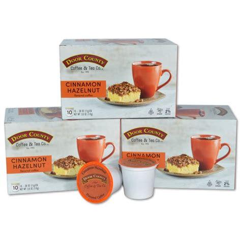 Free shipping shopping at door county coffee? Door County Coffee Cinnamon Hazelnut Flavored Specialty Single-Serve Coffee Pods, Medium Roast ...