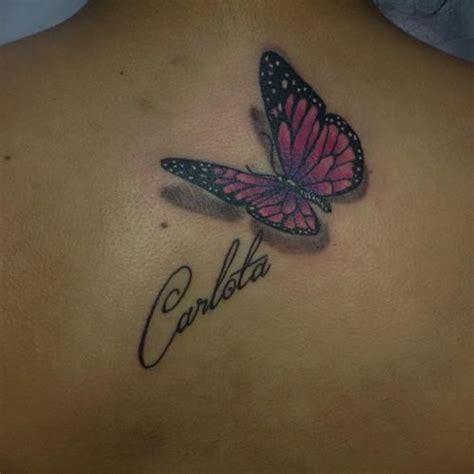 mariposa  nombre tatuajes  mujeres