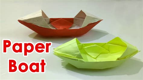 How To Make A Boat That Floats On Water by How To Make A Easy Origami Boat That Floats How To Make
