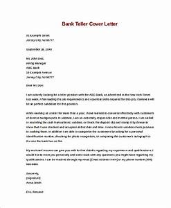 sample cover letters for job 9 examples in word pdf With cover letters for bank tellers