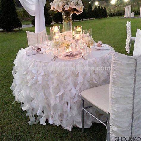 how to make a tablecloth for a rectangular table selling silk ruffled wedding tablecloth buy ruffled