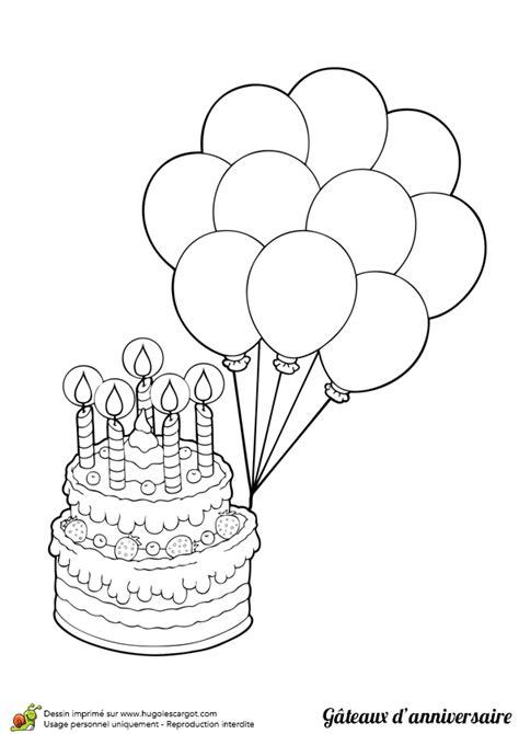 jeux de cuisine restaurant gratuit dessin à colorier gâteau d anniversaire et beaux ballons