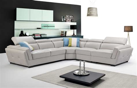 Light Gray Sectional Sofa by Light Grey Sectional Sofa Ef 566 Leather Sectionals