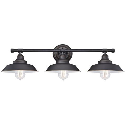 westinghouse iron hill 3 light rubbed bronze wall
