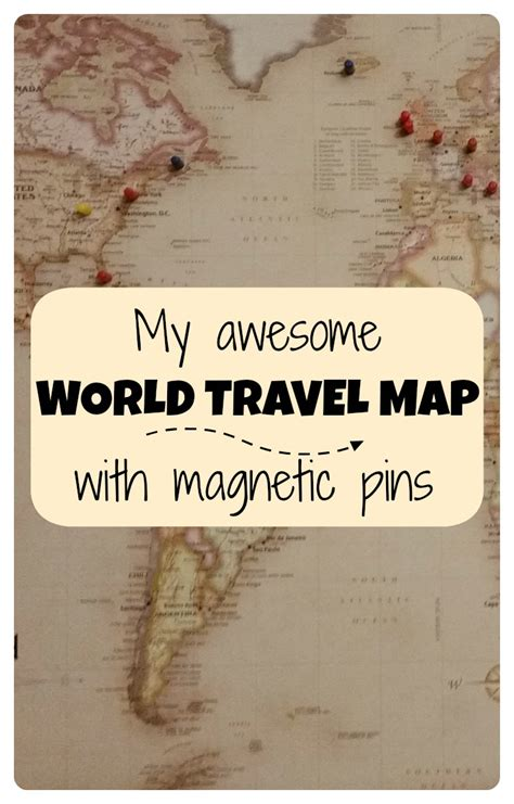 awesome world travel map  pins points   crew