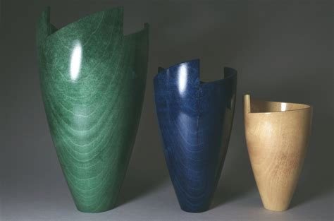 Small Carved Spiral Rim Vase In Sycamore By Jon Paine