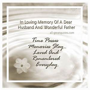 Memorial Cards ... Remembering Husband Quotes