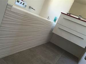 stunning salle de bain faience blanche contemporary With faience murale salle de bain