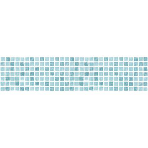decor ceramica mosaic tile self adhesive border aqua