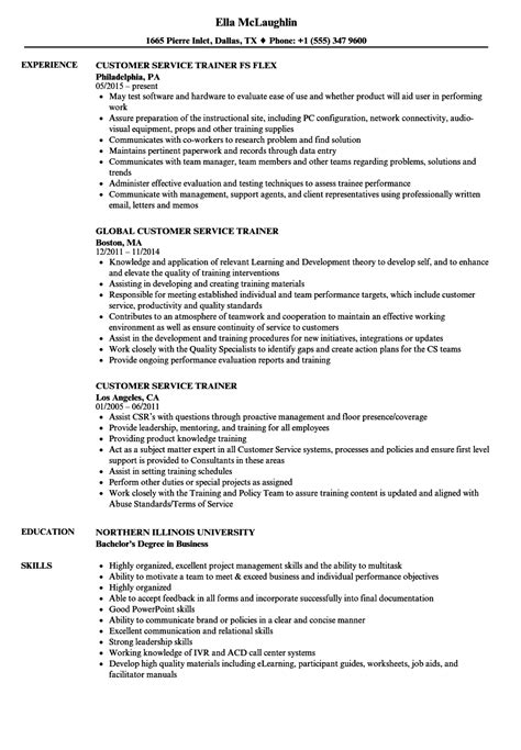 Customer Service Resume Format by Customer Service Trainer Resume Skills Resume Format