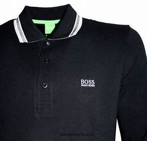 183a830a hugo boss green label black long sleeved plosy polo shirt polo shirts from  designerwear2u uk