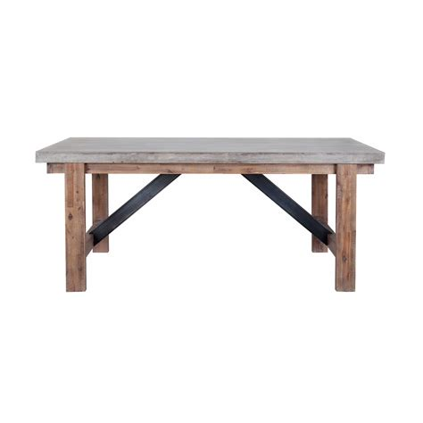 cement top dining table vega dining table concrete top furniture maison