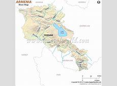 Armenia River Map