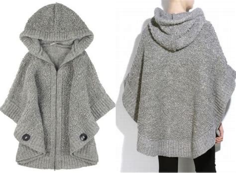 Knit Poncho, Hand Knitted Sweaters And Knit Shrug