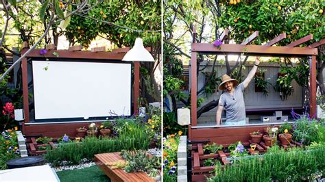 Backyard Home Theater by The In Our Garden Is One Of Our