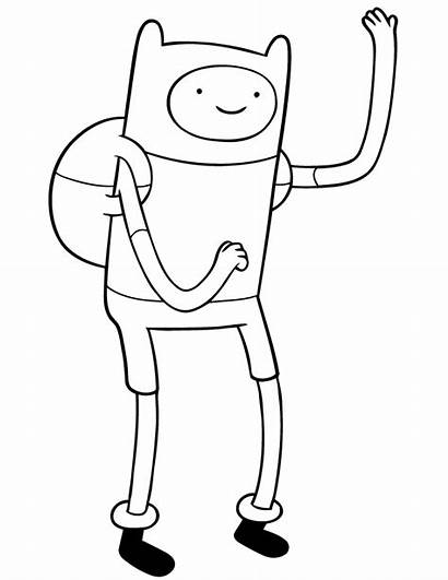 Adventure Coloring Pages Finn Drawings Printable Cool