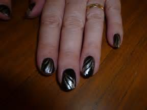 Black and silver swirl nail art by kkmaree on deviantart
