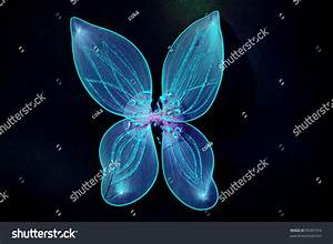 Pair Fairy Wings Blue Color On Stock Photo 90381916 ...