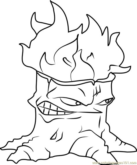 torchwood coloring page  plants  zombies coloring