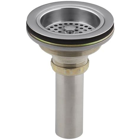 kitchen sink basket strainer waste kohler brushed chrome basket strainer waste 8801 g 8448