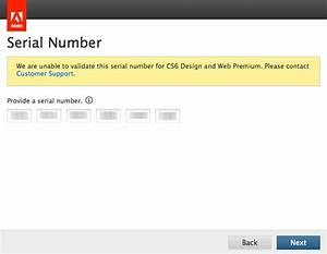 Photoshop Cs6 Serial Number Error Unable To Validate Serial Number Cs6