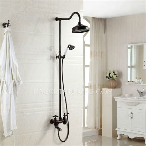 rubbed kitchen faucet luxury cross handle rubbed bronze outdoor shower faucets