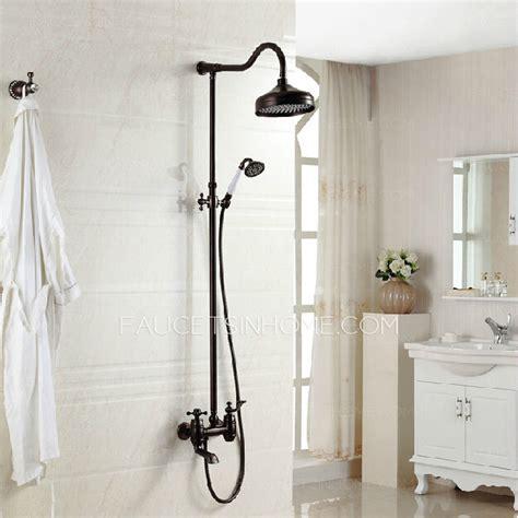 Luxury Cross Handle Oil Rubbed Bronze Outdoor Shower Faucets