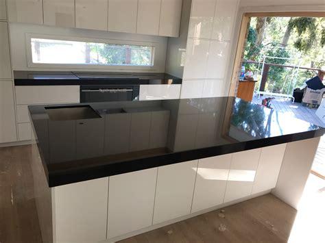 Black Granite Bench Tops by Absolute Black Granite Kitchen Benchtop