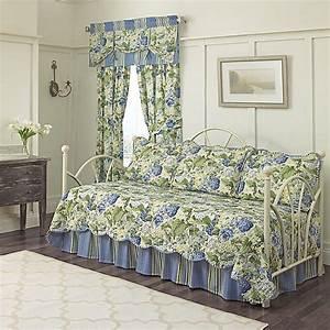 Waverly, U00ae, Floral, Flourish, Daybed, Bedding, Set, In, Porcelain