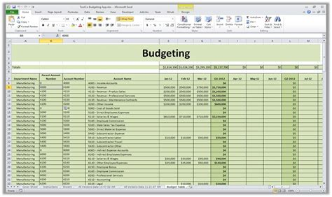 pro forma budget templates excel xlts