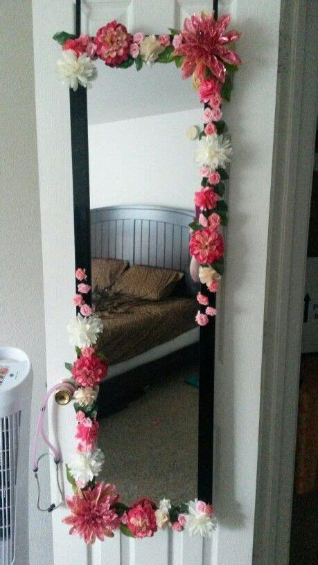 diy body mirror   flower mirror diy home