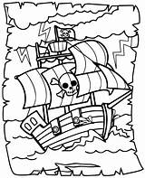 Coloring Pirates Pages Children sketch template
