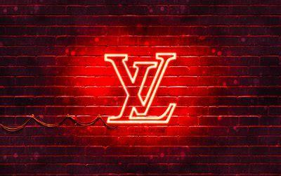 telecharger fonds decran louis vuitton logo rouge  rouge brickwall louis vuitton logo les