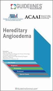 Hereditary, Angioedema, Guidelines, Pocket, Guide, U0026, App