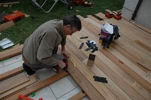 Lambourde Pour Terrasse Bois : terrasse bois espacement lambourde ~ Premium-room.com Idées de Décoration