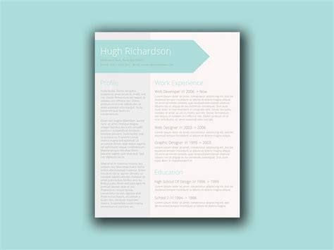 turquoise template free turquoise resume template with elegant design