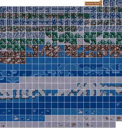 Sprites Tiles Sheet Computer Pc Warcraft Winter