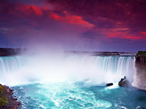 niagara falls  night lights hd wallpaper  desktop