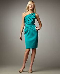 David Meister One-shoulder Cocktail Dress in Blue (teal ...