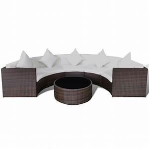Lounge Set Günstig : vidaxl lounge set halbrund braun poly rattan g nstig kaufen ~ Indierocktalk.com Haus und Dekorationen