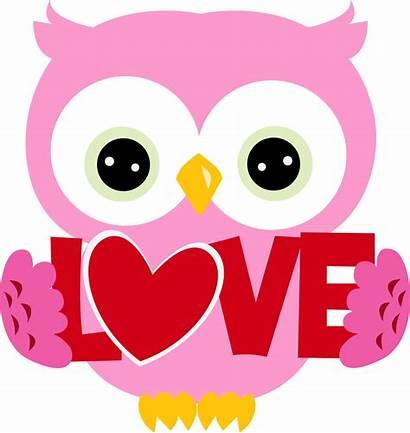 Valentine Owl Clipart February Valentines Clip Buhos