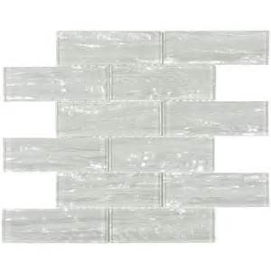 shop allen roth dry dune pearl mosaic glass wall tile