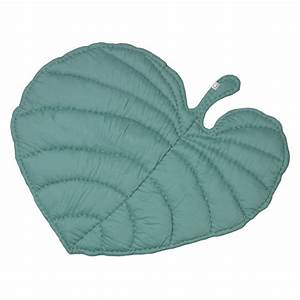 Tapis Vert Menthe : couverture tapis de jeux feuille vert menthe nofred pour chambre enfant les enfants du design ~ Melissatoandfro.com Idées de Décoration