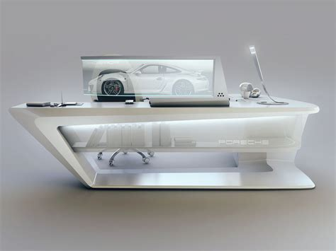 modern desk design  encho enchev sci fi