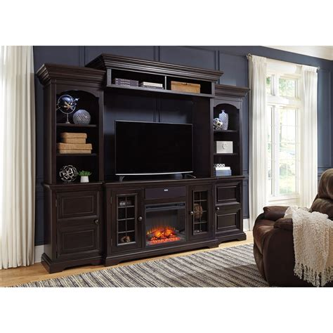 entertainment center with fireplace insert signature design by willenburg 4