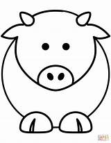 Coloring Cow Cartoon Pages Cows Printable Baby Paper Bull Drawing Styles Supercoloring Categories Mother sketch template