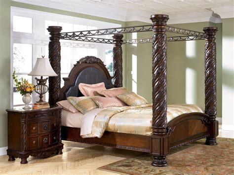 north shore california king canopy bed  dark wood