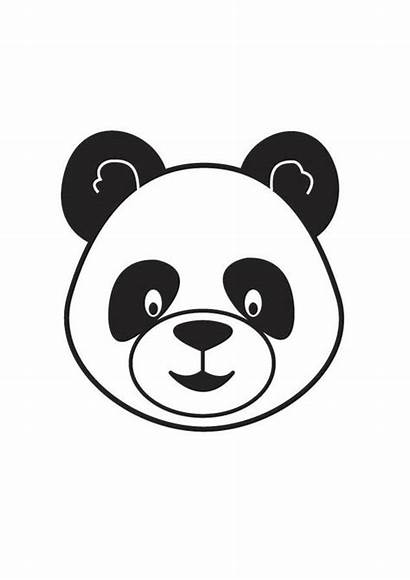 Panda Coloring Head Pages Printable