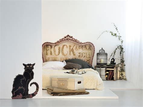 chambre m騁ier tête de lit vintage retro rock version sticker et bientôt textile pour chambre adolescent et adulte