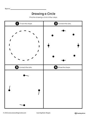 trace and connect dots to draw shapes square triangle